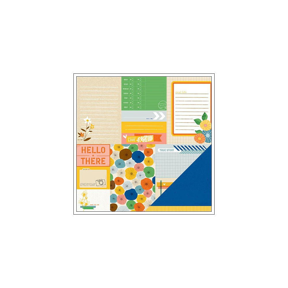 American Crafts Paper True Story Ready Set Go Collection by Amy Tangerine