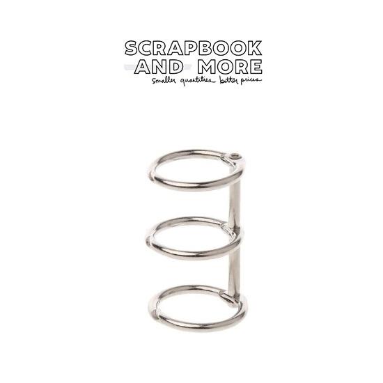 3-Ring Binding Rings Metal Silver Loose Leaf Spines