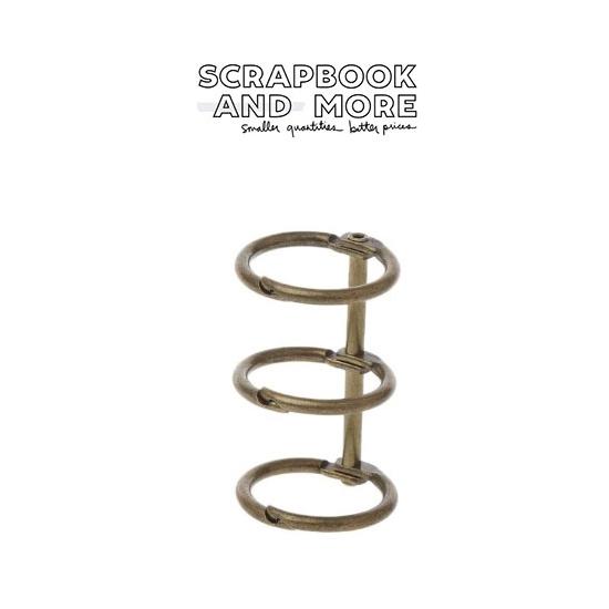 3-Ring Binding Rings Metal Bronze Loose Leaf Spines