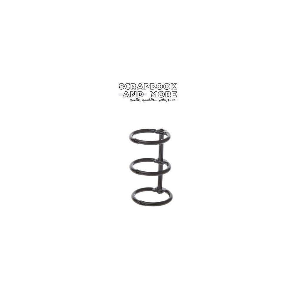 3-Ring Binding Rings Metal Black Loose Leaf Spines
