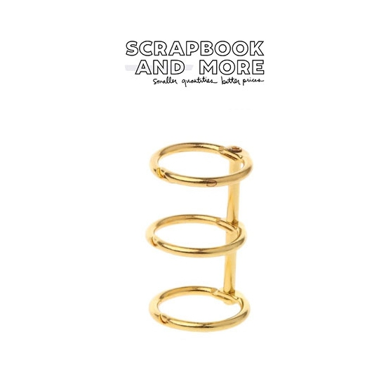 3-Ring Binding Rings Metal Gold Loose Leaf Spines