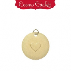 Cosmo Cricket Gold Metal Charm Embellishment Embossed Heart