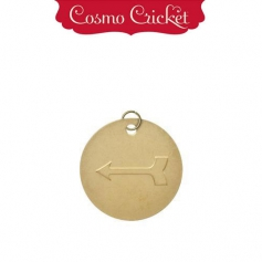 Cosmo Cricket Gold Metal Charm Embellishment Embossed Arrow
