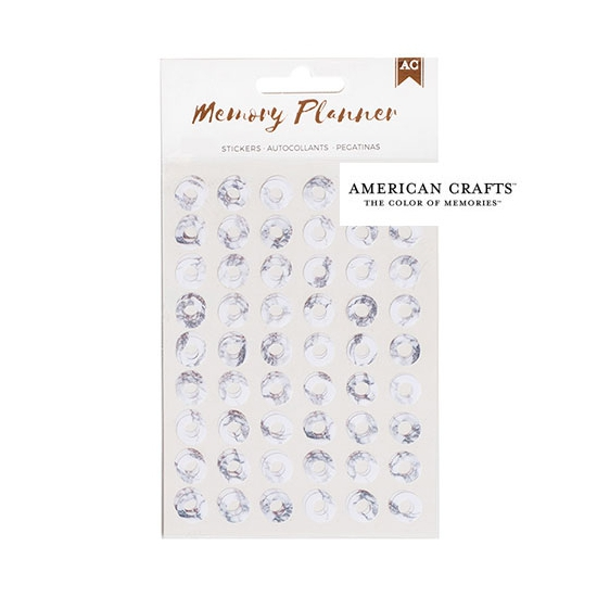 American Crafts Hole Reinforcers Sticker Sheet Marble Crush Memory Planner Collection
