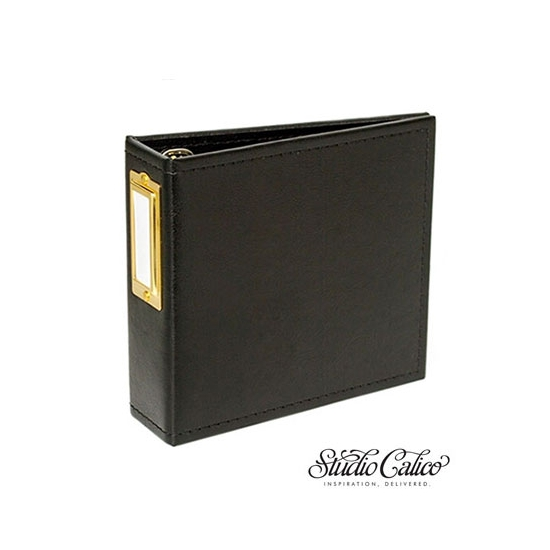 Studio Calico Handbook Album Black 4 x 4 inches Seven Paper Amelia Collection