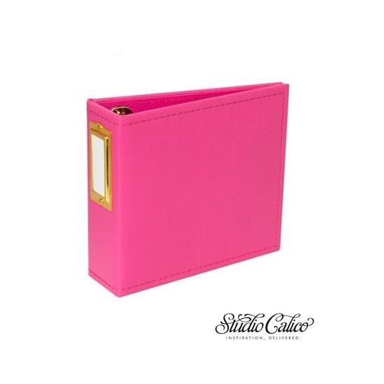 Studio Calico Handbook Album Pink 4 x 4 inches Seven Paper Amelia Collection