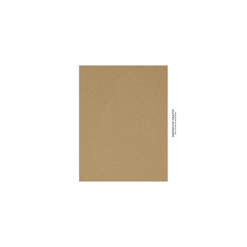 American Crafts Pow Gold Glitter Paper 8.5 x 11