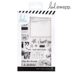 Heidi Swapp Acrylic Stamp Set Honey and Spice Collection