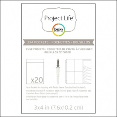 American Crafts Project Life Photo Fuse Pockets 3 x 4 inches