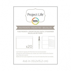 American Crafts Project Life Photo Fuse Pockets 4 x 6 inches