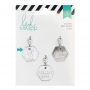 Heidi Swapp Metal Charm Hexagon [Just For Fun] Wanderlust Collection