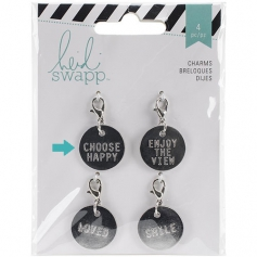 Heidi Swapp Metal Charm Circle [Choose Happy] Wanderlust Collection