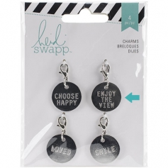 Heidi Swapp Metal Charm Circle [Enjoy the View] Wanderlust Collection