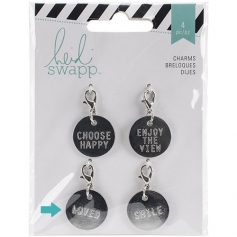Heidi Swapp Metal Charm Circle [Loved] Wanderlust Collection