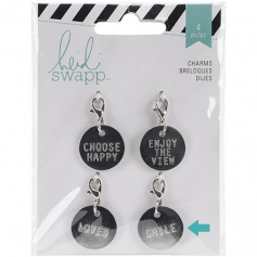 Heidi Swapp Metal Charm Circle [Smile] Wanderlust Collection