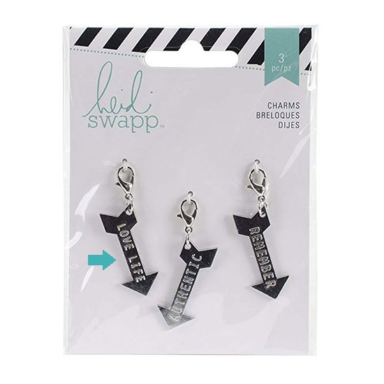 Heidi Swapp Metal Charm Arrow [Love Life] Wanderlust Collection