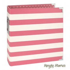 Simple Stories Snap Designer Binder 6x8 Pink Stripe