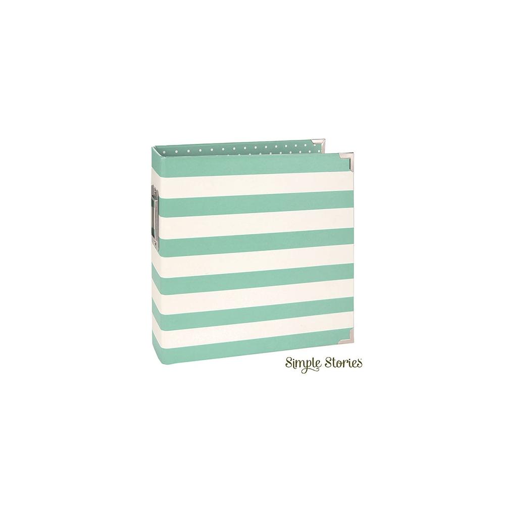 Simple Stories Snap Designer Binder 6x8 Robins Egg Stripe