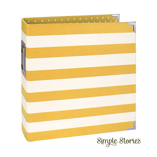 Simple Stories Snap Designer Binder 6x8 Yellow Stripe