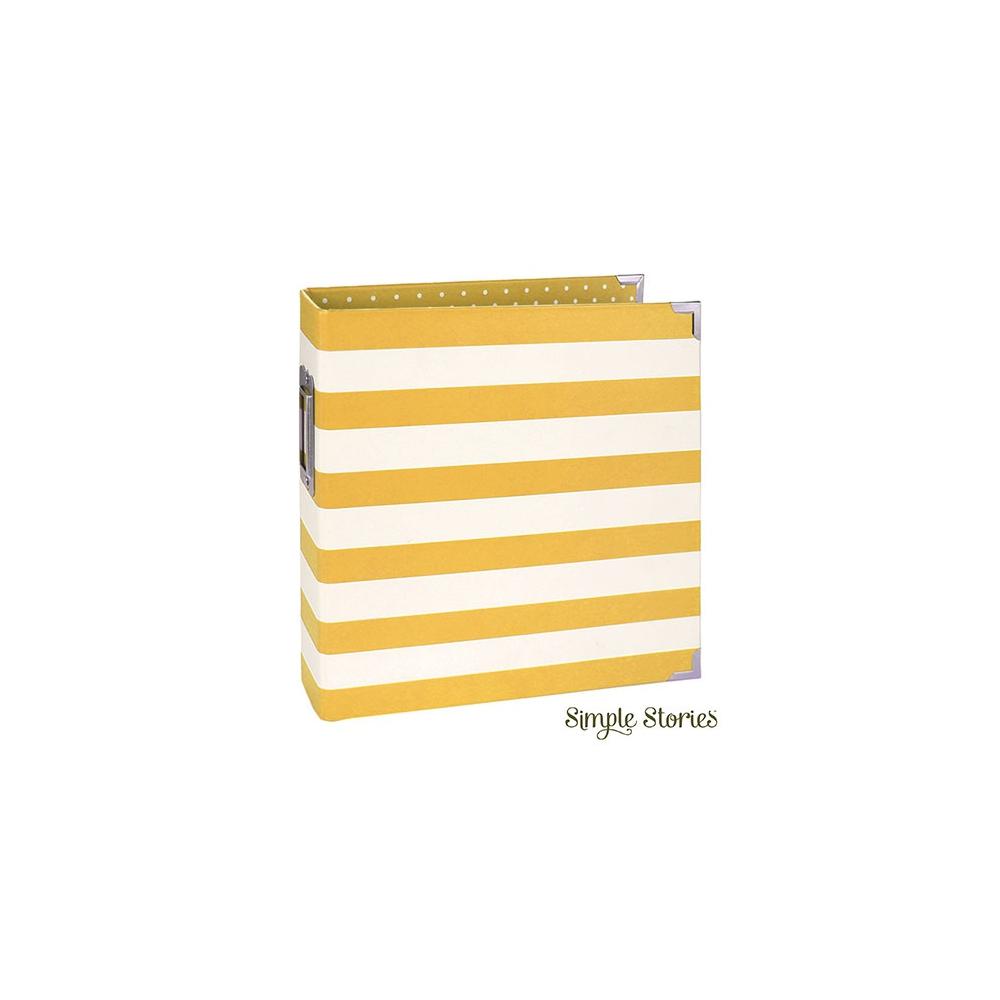 Simple Stories Snap Designer Binder 6x8 Yellow Stripe