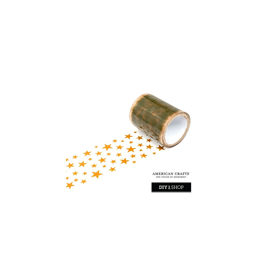 American Crafts Transparent Tape Gold Stars DIY Shop Collection