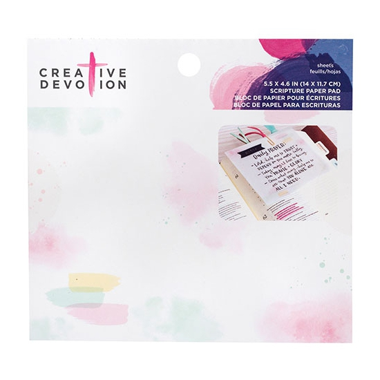 American Crafts Creative Devotion Scripture Vellum Paper Watercolor Palette