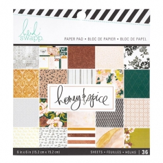 Heidi Swapp Paper Pad 6x6 Honey and Spice Collection
