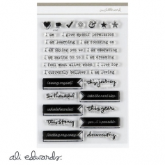 Ali Edwards One Little Word Myself 4 x 6 inch Stamp Set