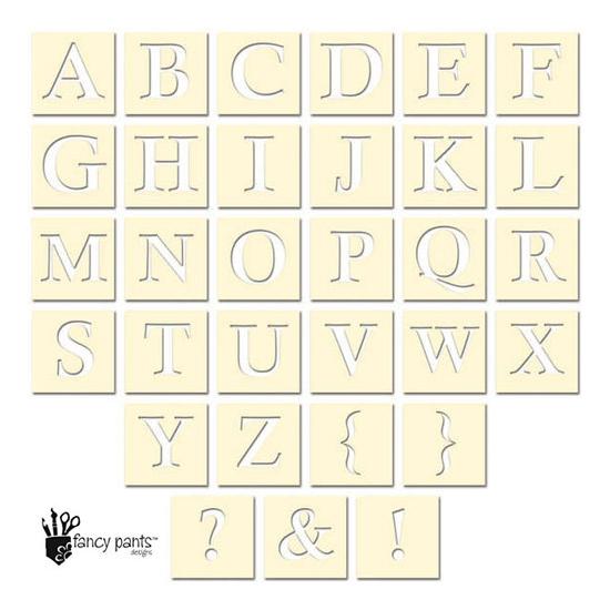 Fancy Pants Designs Die Cut Alphabet Stencil Cards Artist Edition Collection