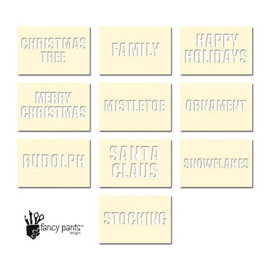 Fancy Pants Designs Die Cut Stencil Cards Christmas Set Artist Edition Collection