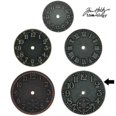 Idea-ology Tim Holtz Metal Clock Face Antique Nickel
