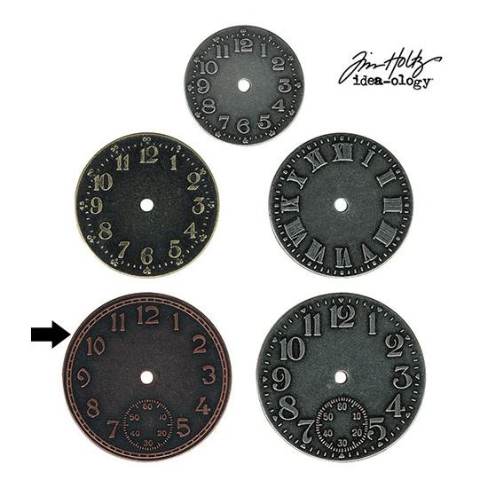 Idea-ology Tim Holtz Metal Clock Face Copper