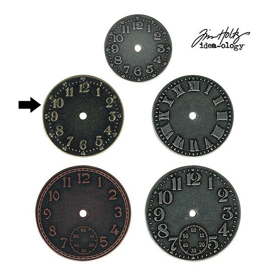Idea-ology Tim Holtz Metal Clock Face Brass