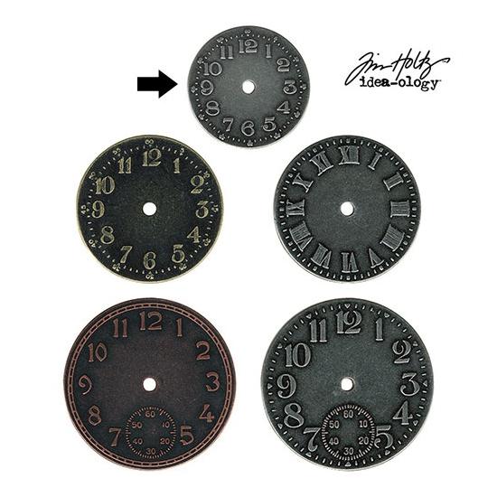 Idea-ology Tim Holtz Metal Clock Face Antique Nickel