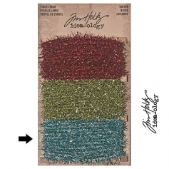 Tim Holtz Idea-ology Tinsel Twine Aqua/Blue Winter