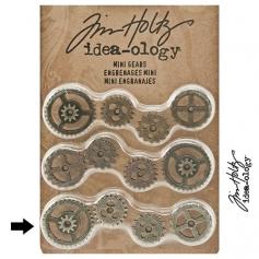 Idea-ology Tim Holtz Metal Mini Gears Antique Nickel