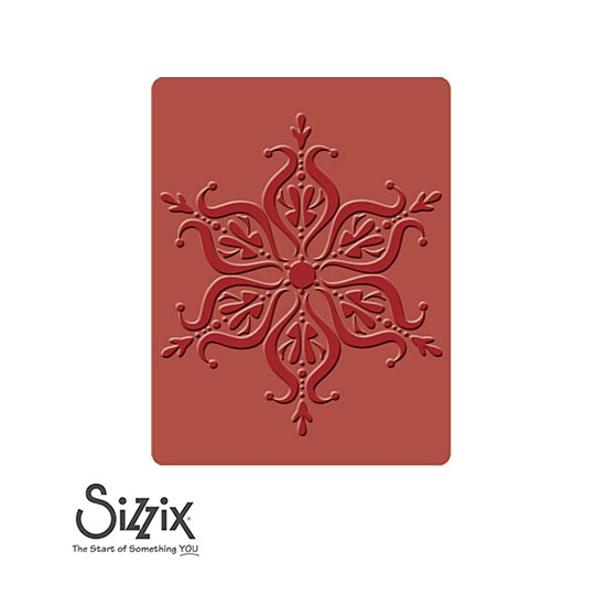 Sizzix Textured Impressions Embossing Folder A2 Large Snowflake Number 12