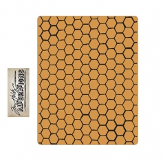 Sizzix Tim Holtz Alterations Texture Fades Embossing Folder Honeycomb A2 Large