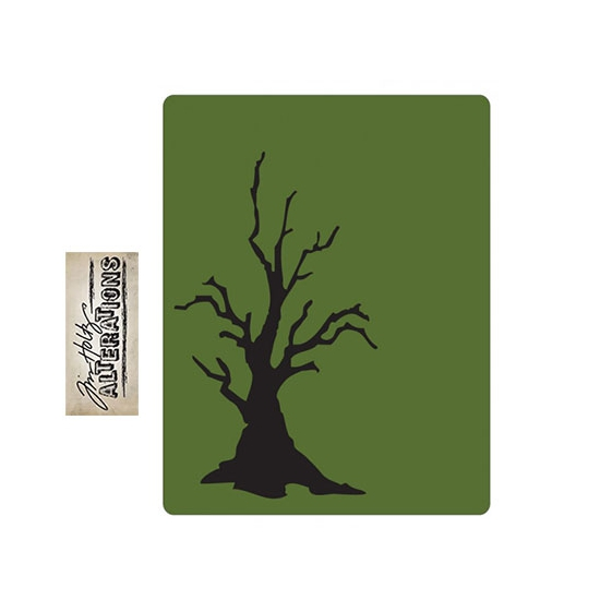 Sizzix Tim Holtz Alterations Texture Fades Embossing Folder Branch Tree A2 Large