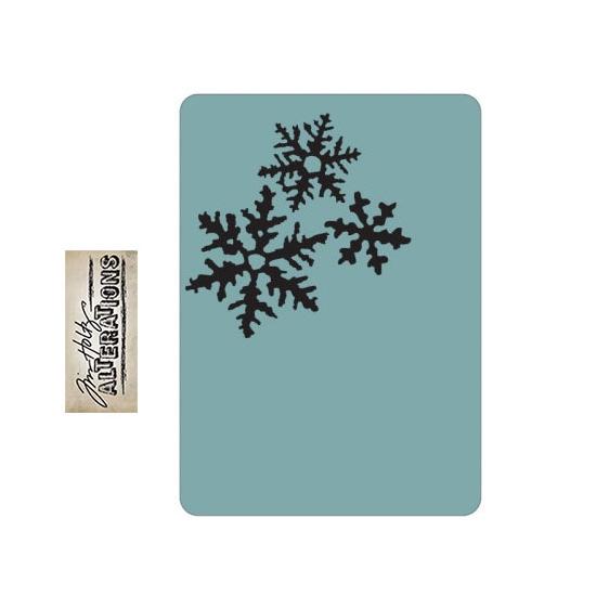 Sizzix Tim Holtz Alterations Texture Fades Embossing Folder Snowflakes A2 Medium