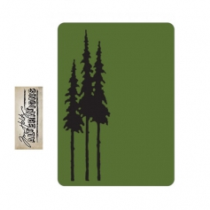 Sizzix Tim Holtz Alterations Texture Fades Embossing Folder Mini Tall Pines A2 Medium