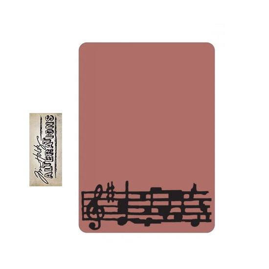 Sizzix Tim Holtz Alterations Texture Fades Embossing Folder Mini Sheet Music A2 Medium
