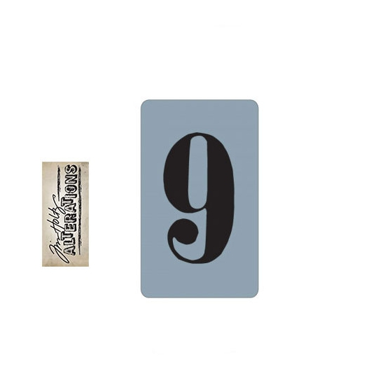 Sizzix Tim Holtz Alterations Texture Trades Embossing Folder Number Nine