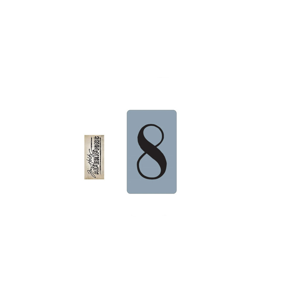Sizzix Tim Holtz Alterations Texture Trades Embossing Folder Number Eight