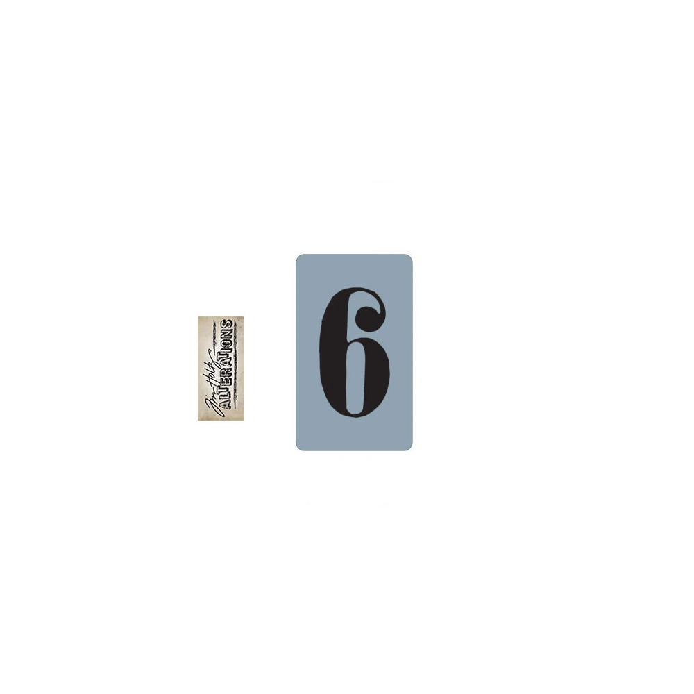 Sizzix Tim Holtz Alterations Texture Trades Embossing Folder Number Six