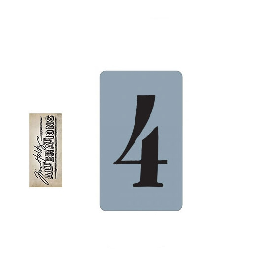 Sizzix Tim Holtz Alterations Texture Trades Embossing Folder Number Four