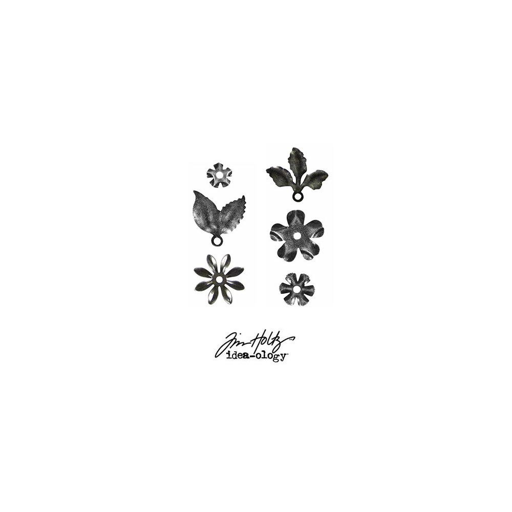 Idea-ology Tim Holtz Metal Foliage + Fasteners Antique Nickel
