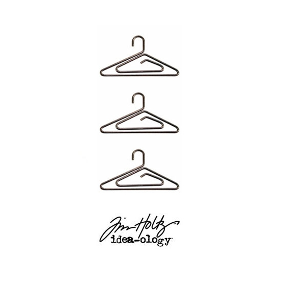 Idea-ology Tim Holtz Metal Hanger Clips Antique Nickel