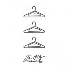 Idea-ology Tim Holtz Metal Hanger Clips Antique Nickel