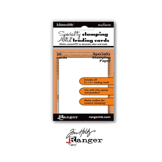 Ranger Tim Holtz Inkssentials Specialty Stamping Paper ATC size